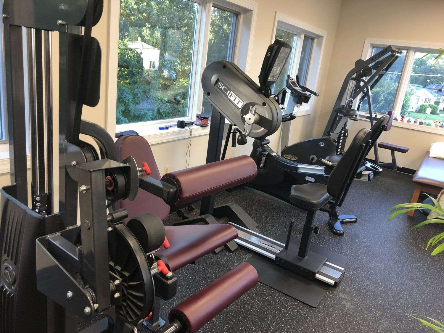 An image of strength training equipment at our physical therapy clinic in Hazlet, New Jersey.