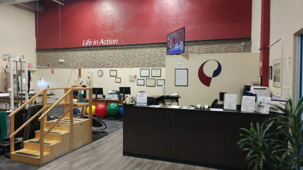Here is a photo of the interior of our physical therapy clinic in Saddle Brook, New Jersey.