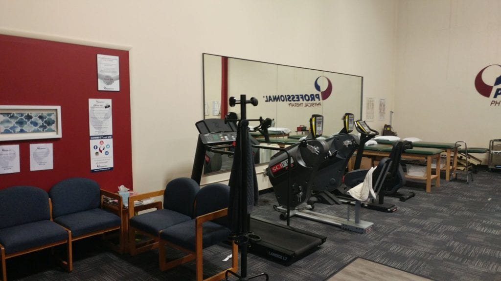 This is an image of the interior of our physical therapy clinic in Saddle Brook, New Jersey.