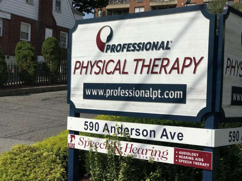 An image of our sign at our physical therapy clinic in Cliffside Park, New Jersey.
