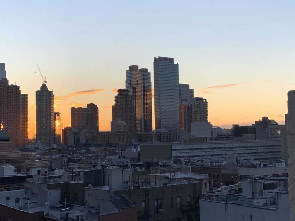 Image of a view of the city from the windows of our physical therapy clinic in Manhattan on West 52nd St.