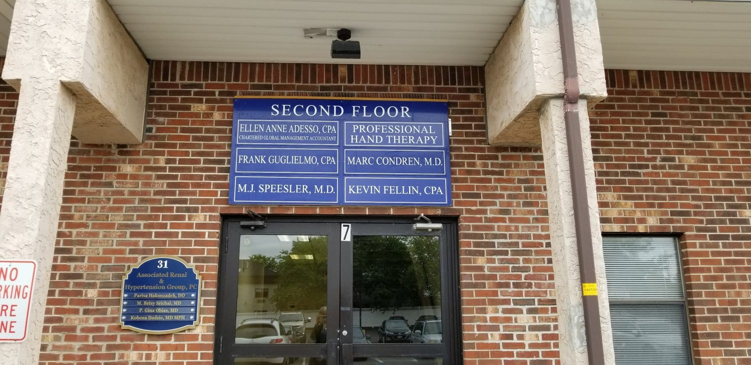 Here is an image of the entrance to our physical and hand therapy clinic in Somerset, New Jersey.