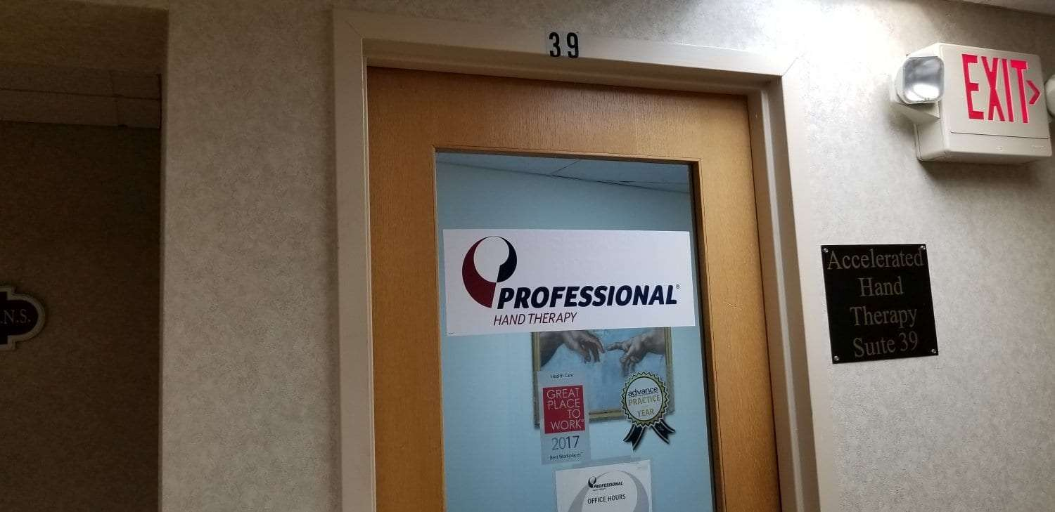 This is an image of the door to our physical and hand therapy clinic in Somerset, New Jersey.