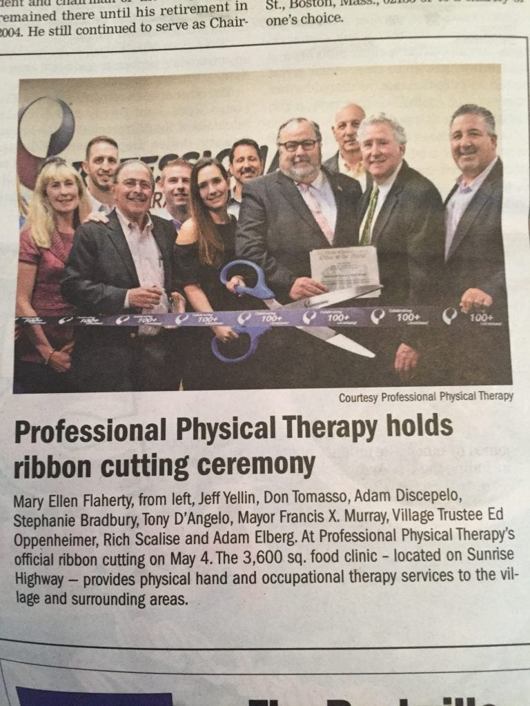 Advance physical therapy magazine -  Herald In An Article Called Professional Physical Therapy Holds Ribbon Cutting Ceremony The Article Discussed The Grand Opening Of Our Brand New