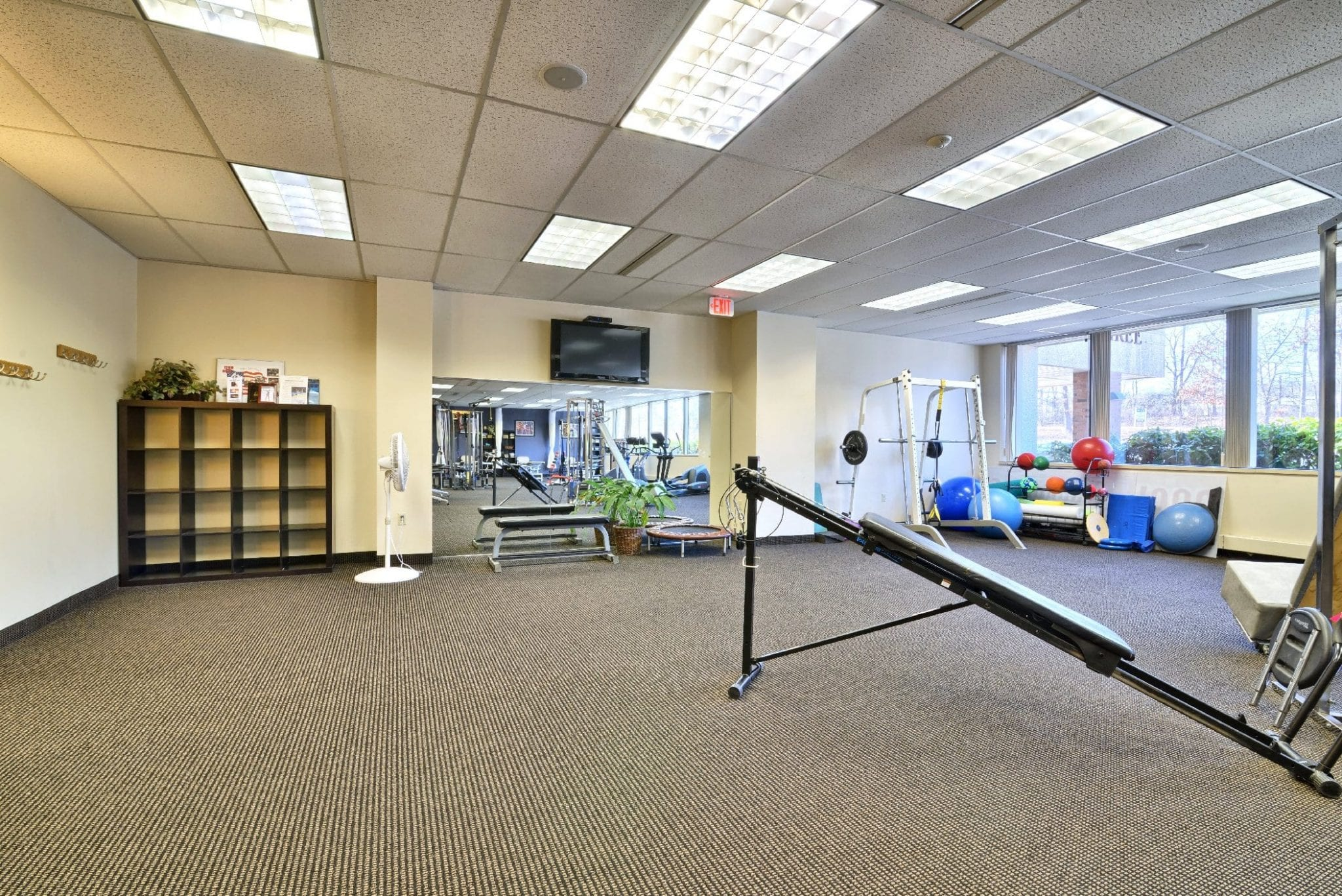 A photo of the interior of our physical therapy clinic in Farmington, Connecticut.