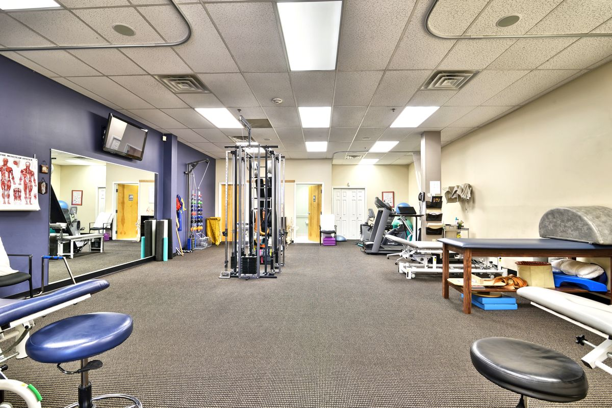 Interior of our physical therapy and sports medicine clinic in Haverhill, MA on Ferry St. in the Bradford Plaza.