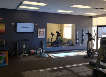 Main room of our physical therapy clinic in Haverhill, MA on Main St.
