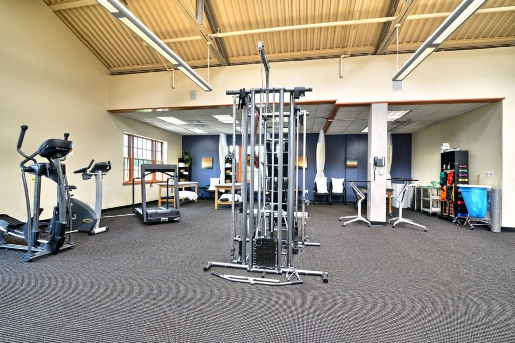 A photo of the clean interior at our physical therapy clinic in Arlington, Massachusetts.