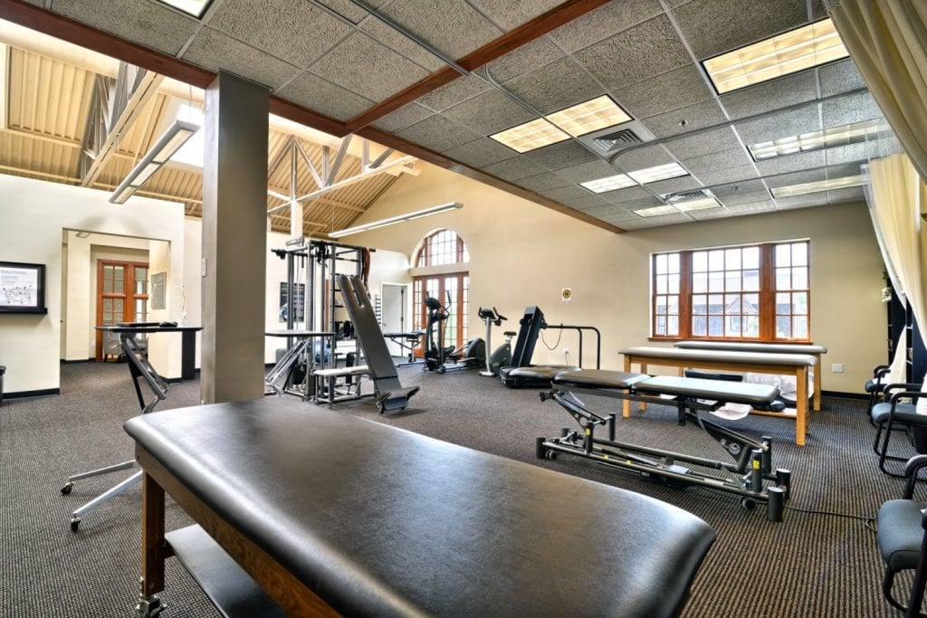 An image of the interior of our physical therapy clinc in Arlington, Massachusetts.