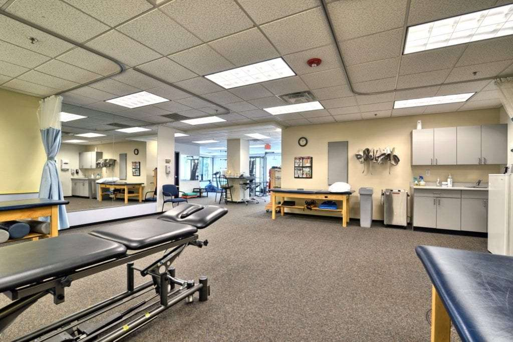 Here is a photo of the interior of our physical therapy clinic in Beverly, Massachusetts.
