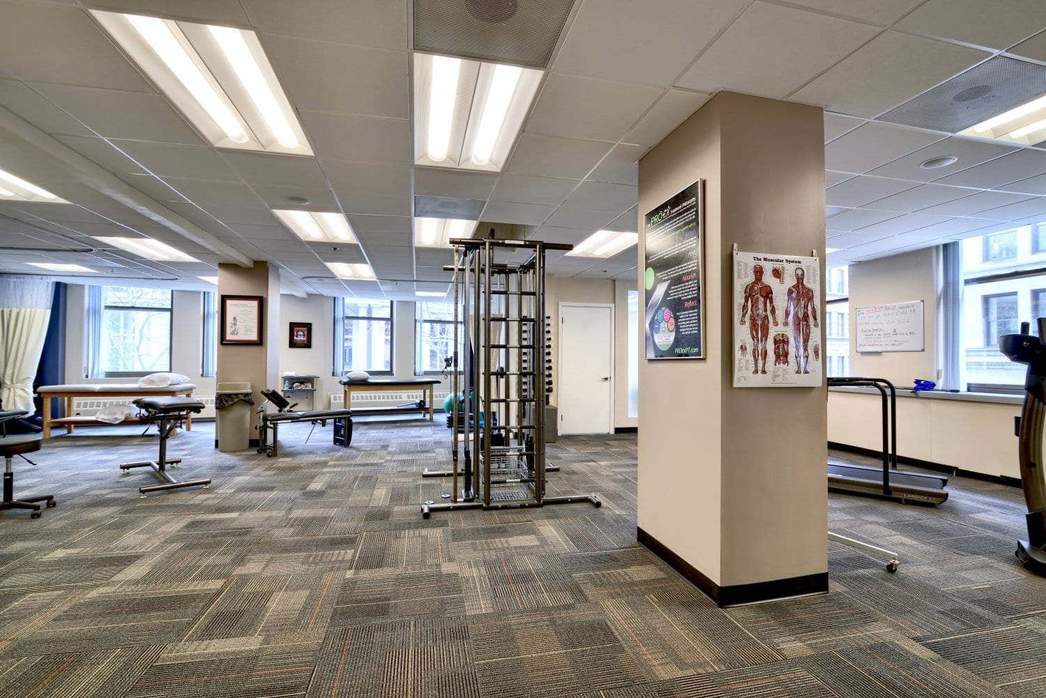 Here is a photo of the interior of our physical therapy clinic in Boston, Massachusetts.