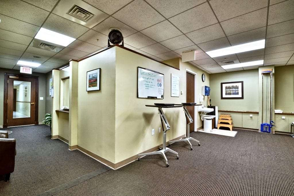 This is a photo of the interior of our physical therapy clinic in Boston, Massachusetts.
