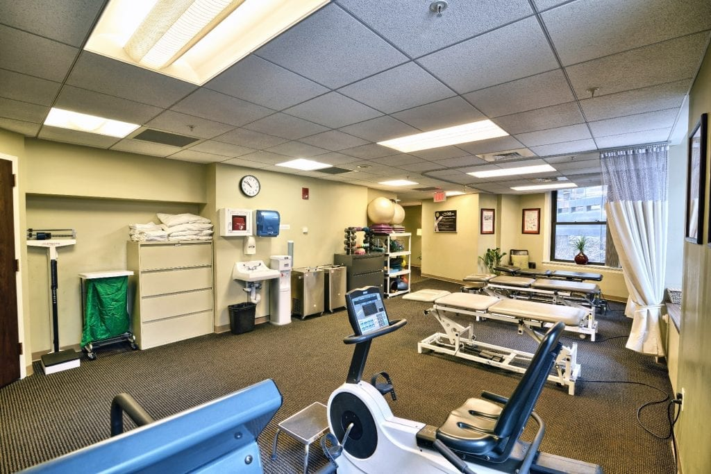 This is an image of the interior of our physical therapy clinic in Boston, Massachusetts.