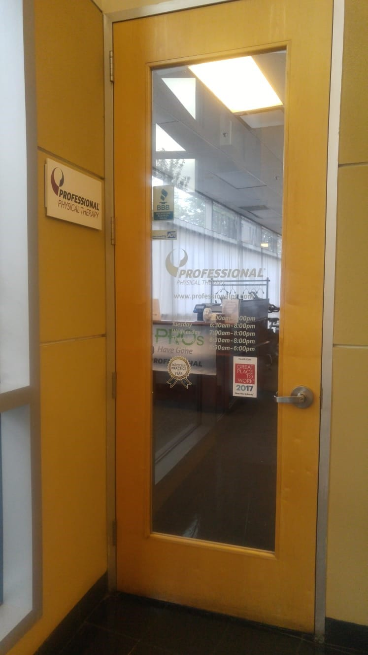 An image of the entrance to our physical therapy clinic in Boston, Massachusetts, 02118.