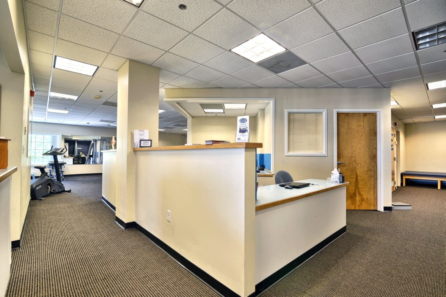 An image of the front desk at our physical therapy clinic in Salem, Massachusetts.