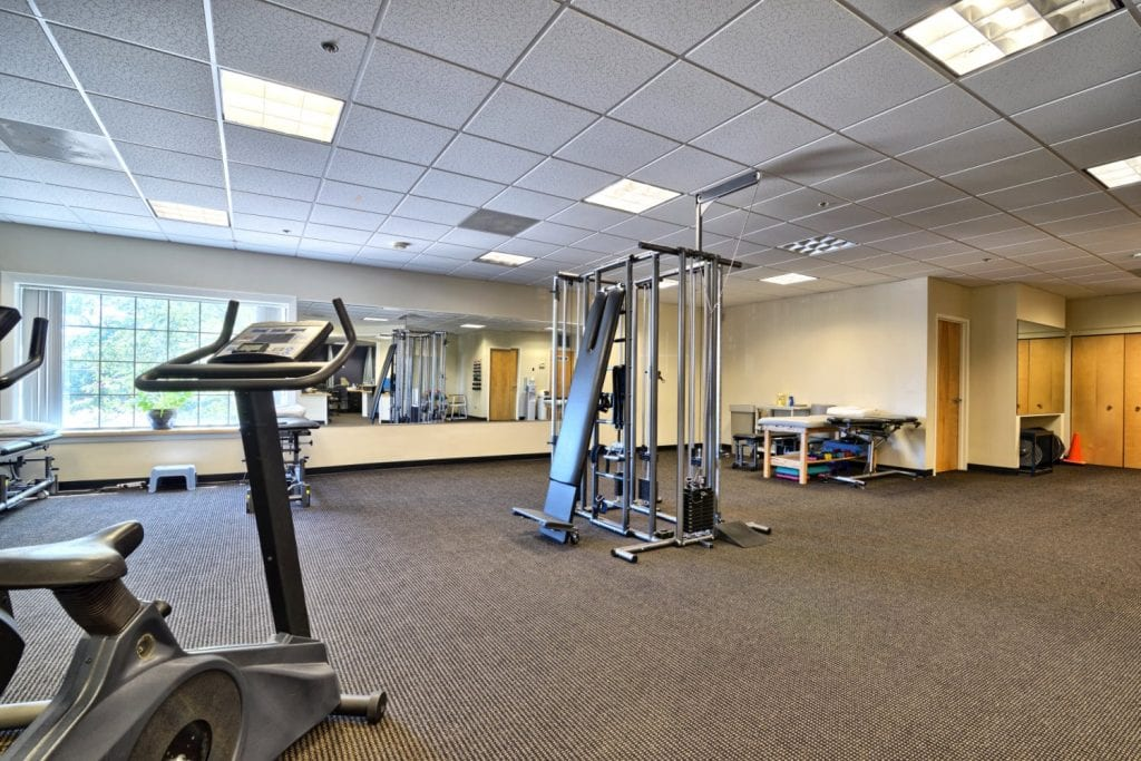 An image of the equipment at our physical therapy clinic in Salem, Massachusetts.