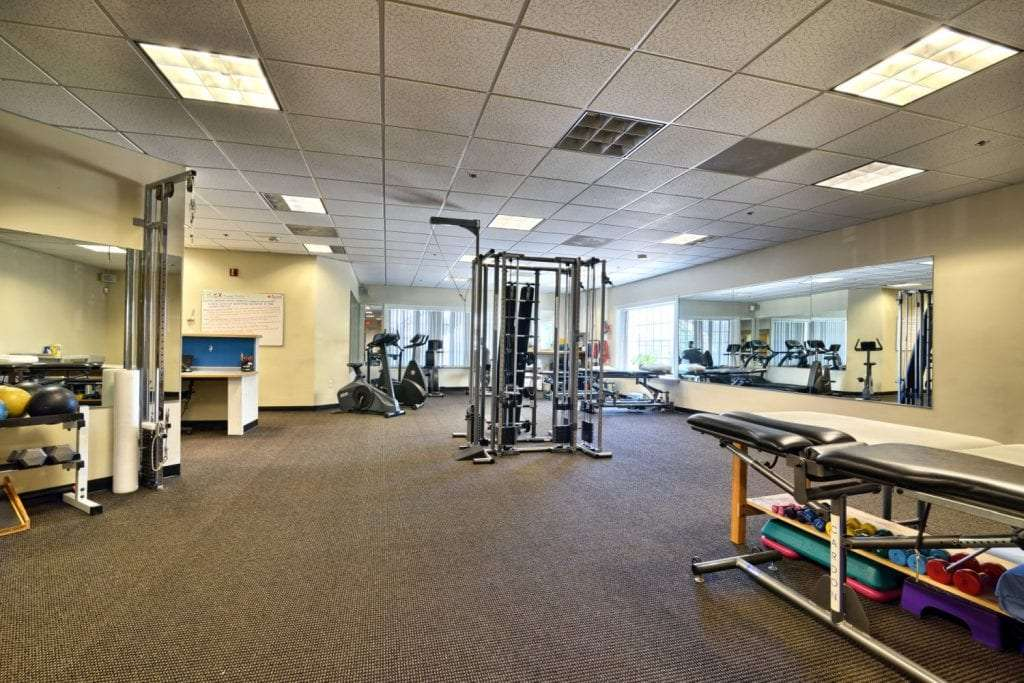 An image of the clean interior of our physical therapy clinic in Salem, Massachusetts.