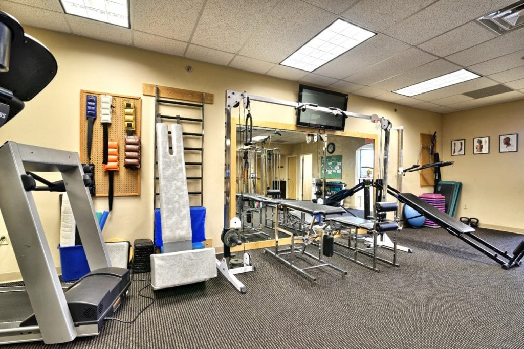 This is a photo of the interior of our phyiscal therapy clinic in Springfield, Massachusetts.