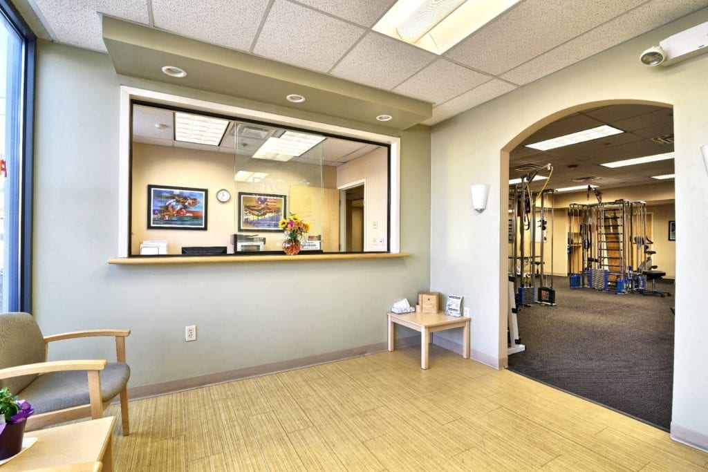 Here is an image of the patient waiting area at our physical therapy clinic in Springfield, Massachusetts.