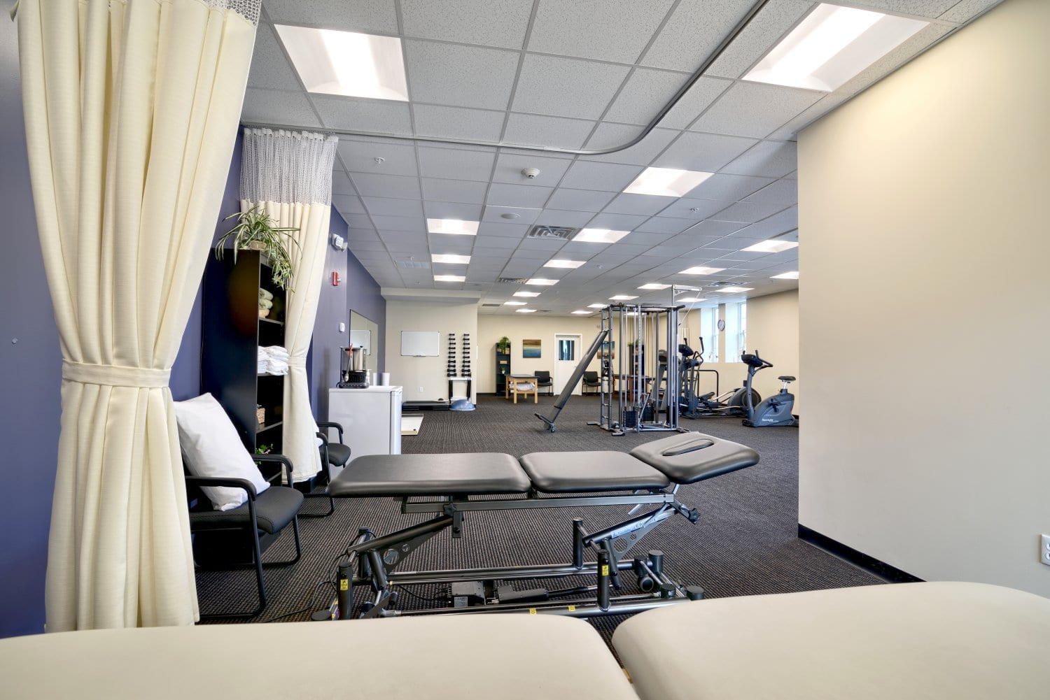 Here is a photo of the stretch beds used for physical therapy at our clinic in Waltham, Massachusetts.