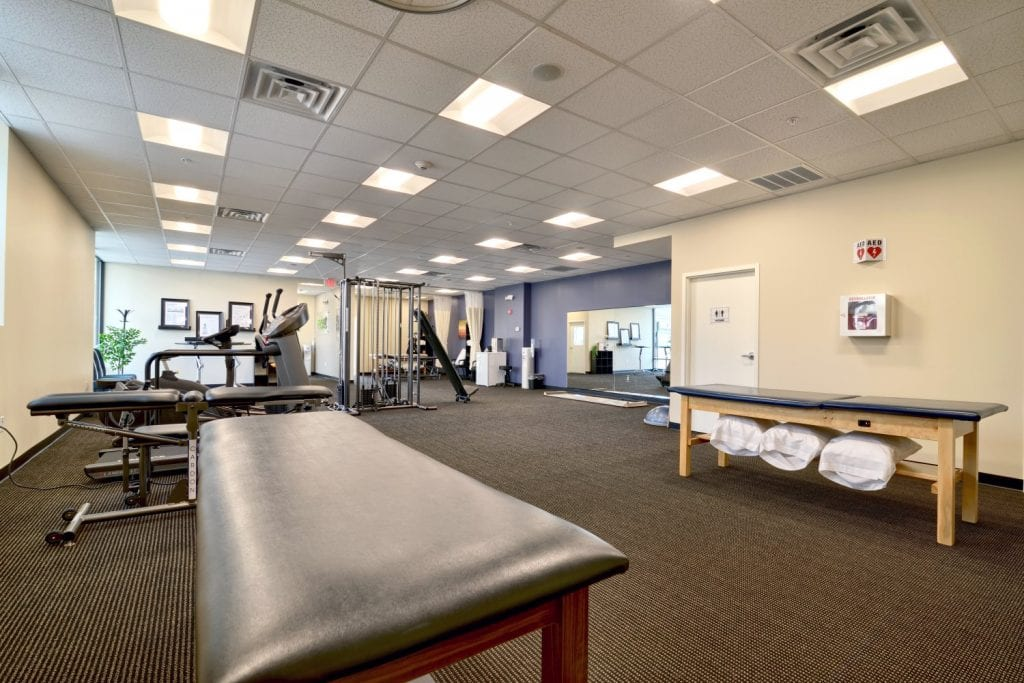 An image of the clean interior of our physical therapy clinic in Waltham, Massachusetts.