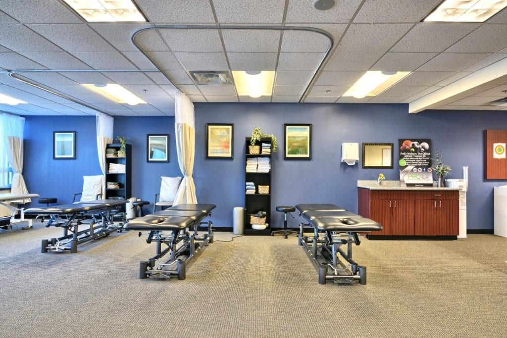 Check out the inside of our clean physical therapy clinic in Woburn, Massachusetts.