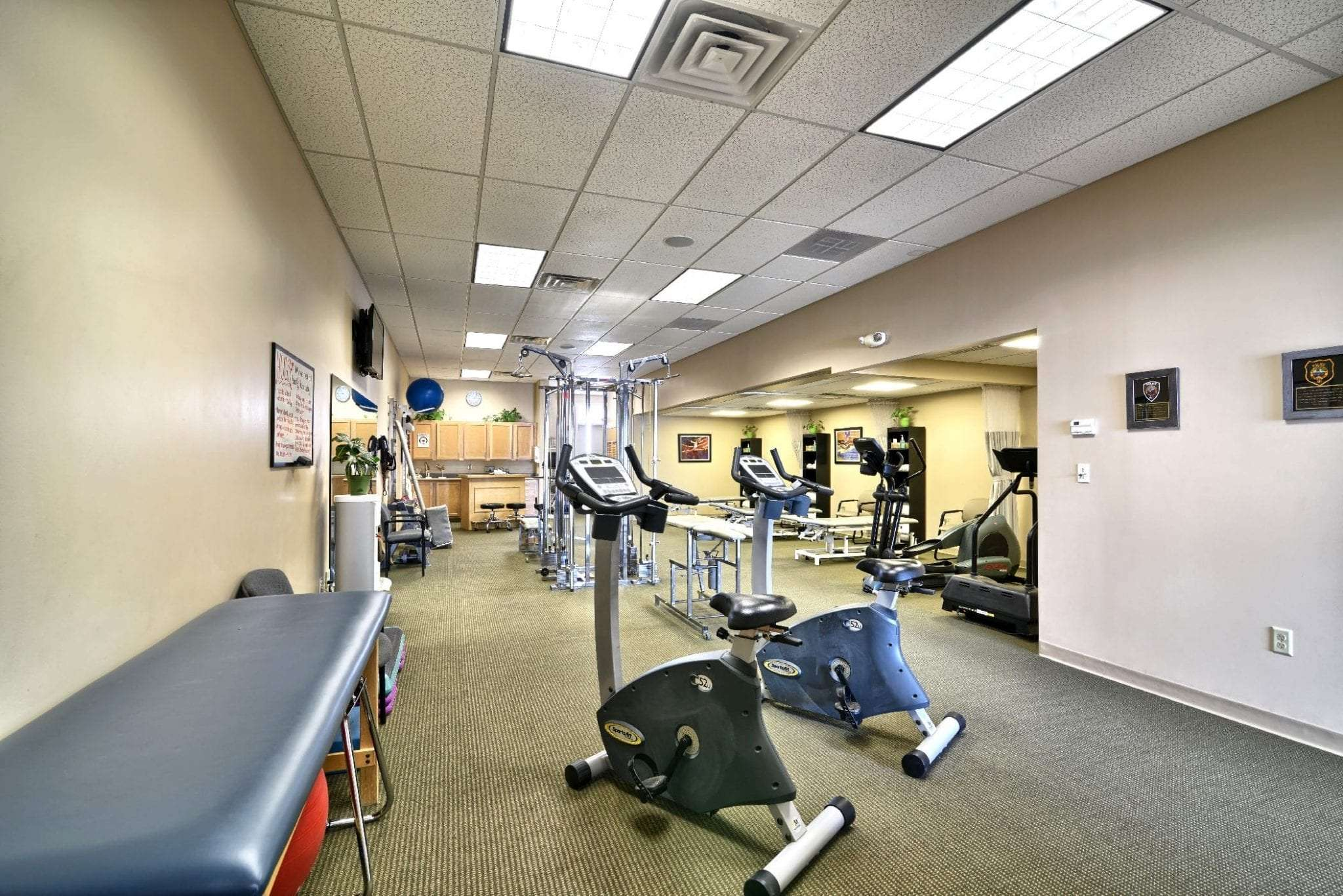 This image shows various equipment used for physical therapy at our clinic in Epping, New Hampshire.