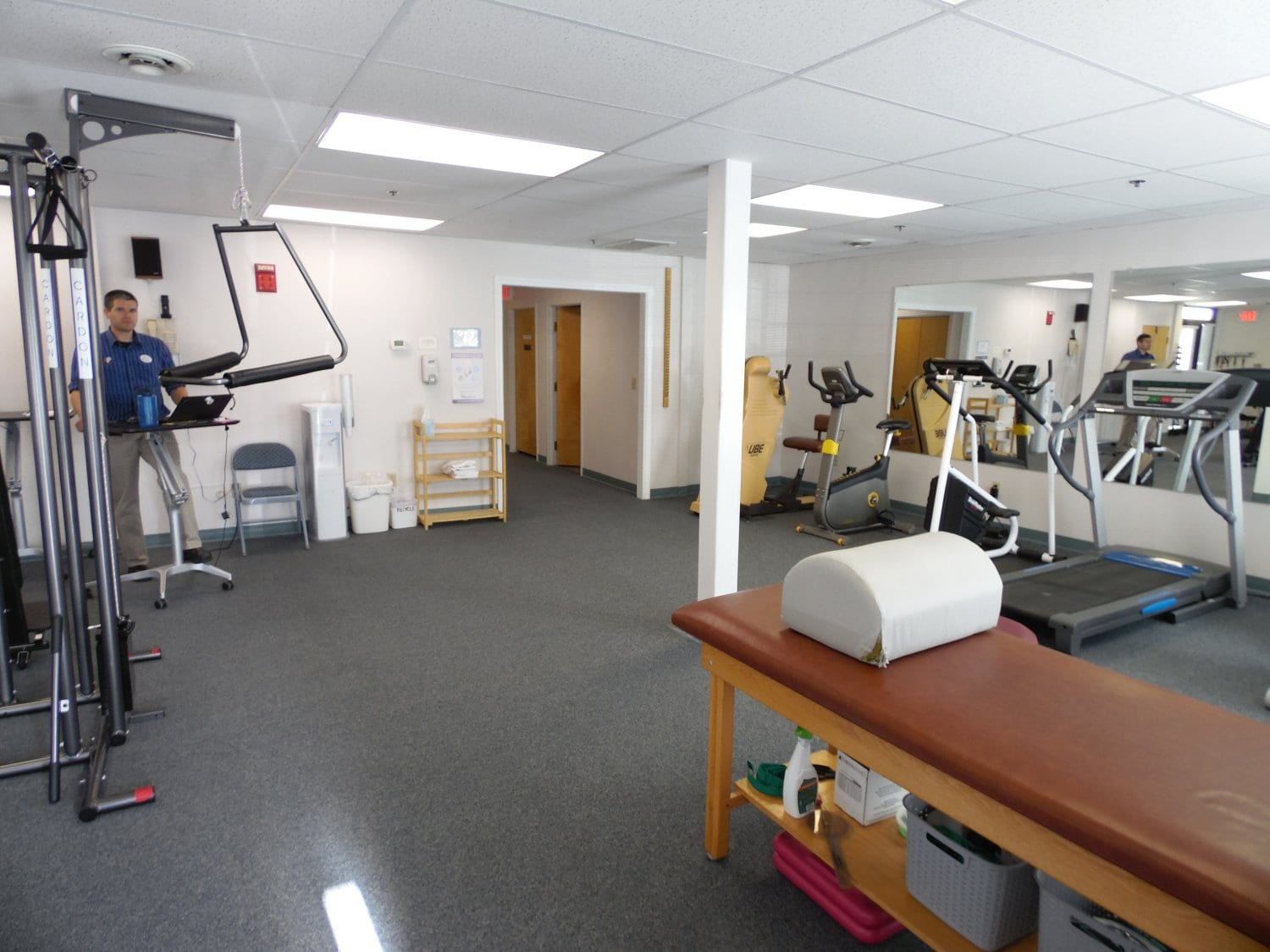 Here is a photo of the equipment used for physical therapy at our clinic in Exeter, New Hampshire.