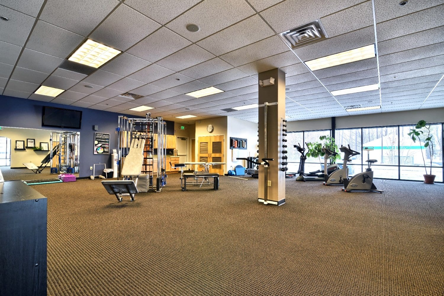 This is an image of weights and equipment used at our physical therapy clinic in Somersworth, New Hampshire.