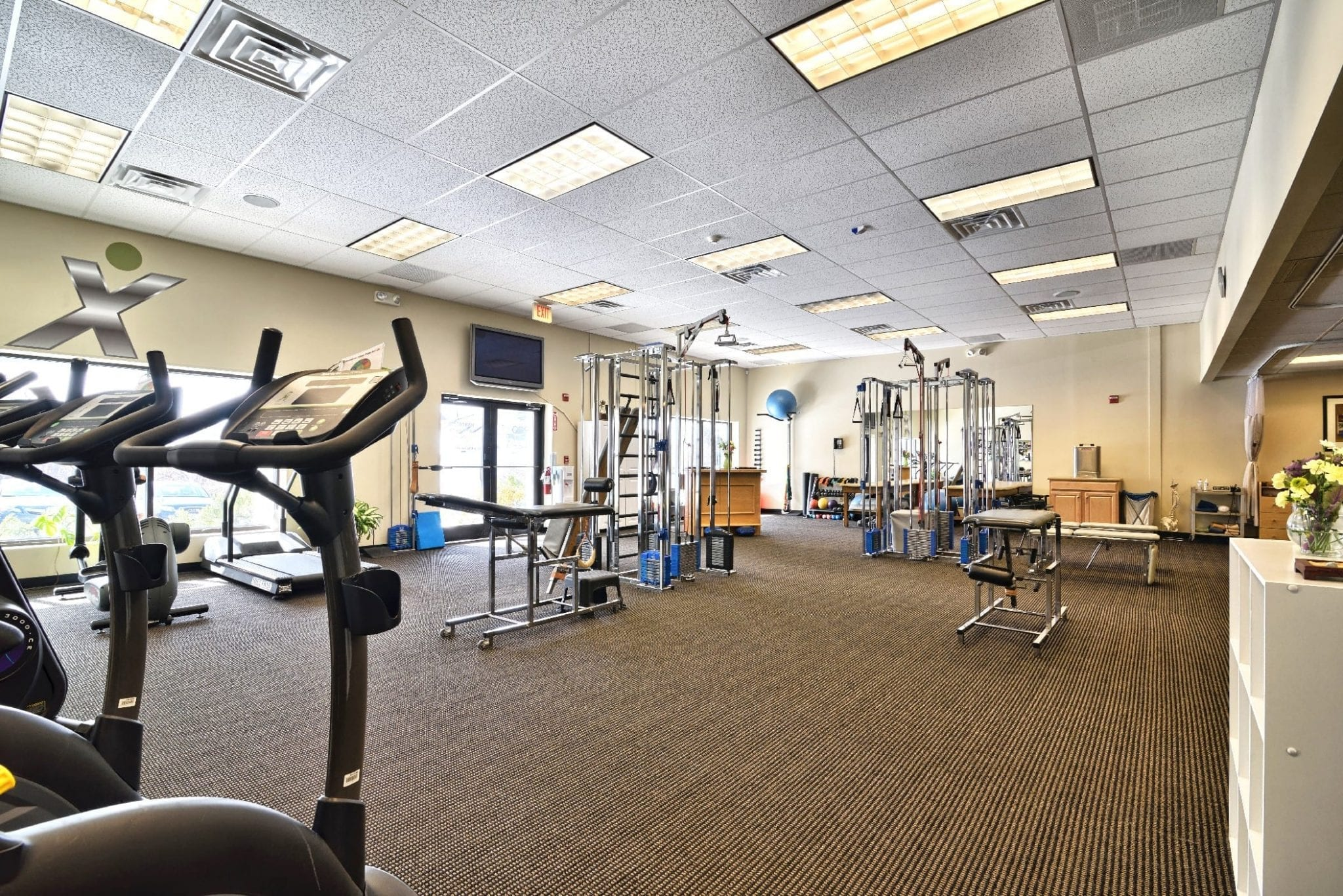 Interior of our Professional Physical Therapy clinic in Stratham, NH.