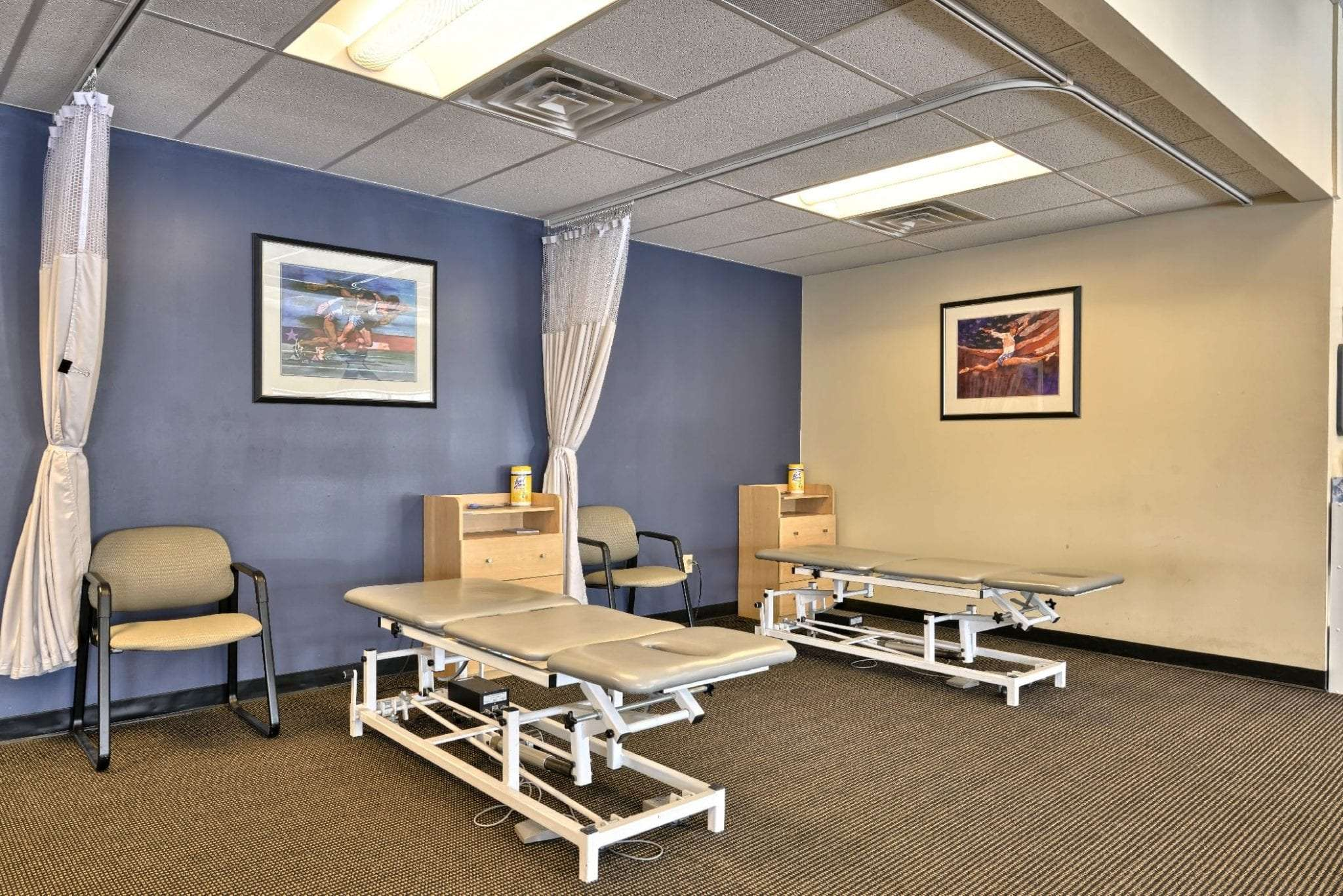 Here is an image of stretch beds used for physical therapy at our clinic in Stratham, New Hampshire.