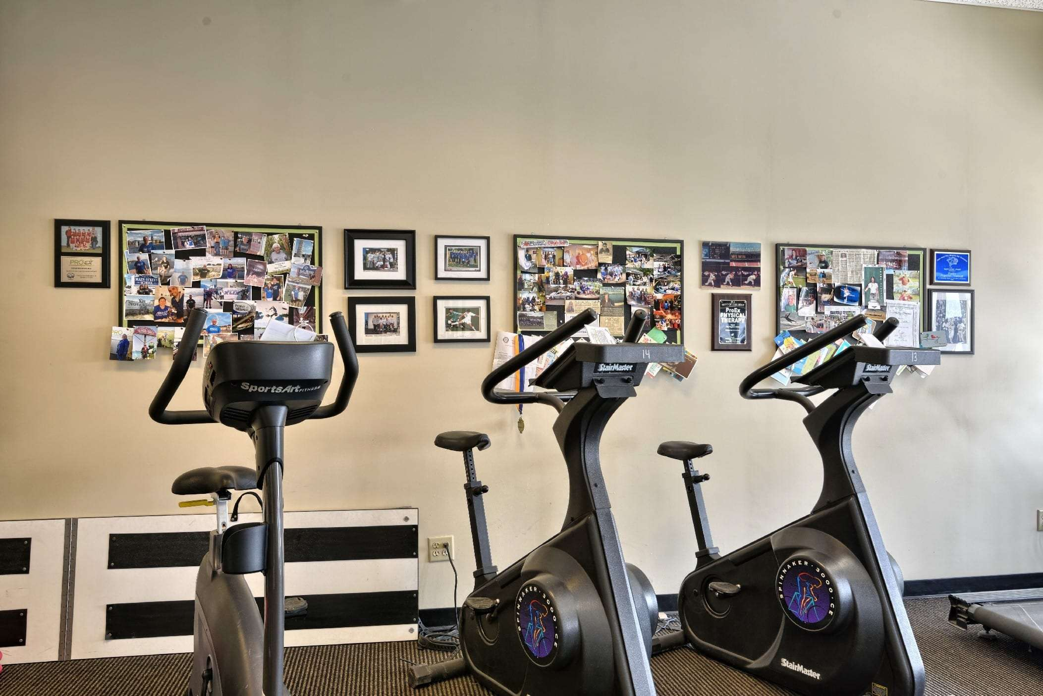 Here is an image of bikes used for physical therapy at our clinic in Stratham, New Hampshire.
