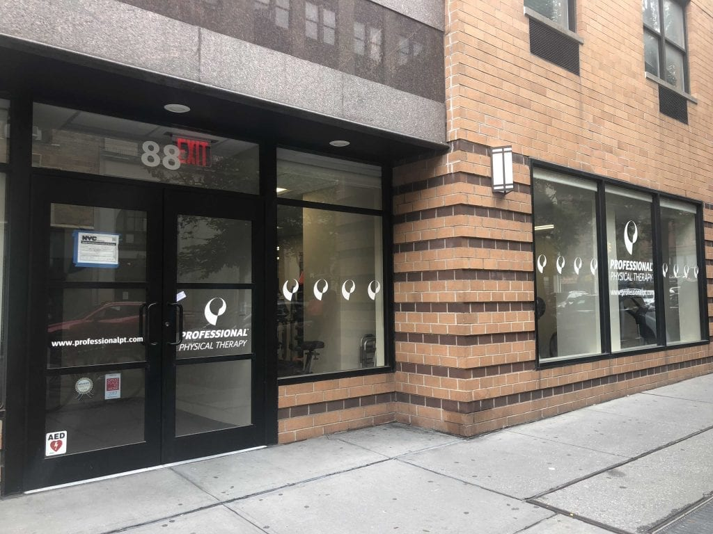 An image of the entrance to our physical therapy clinic in lower Manhattan, New York City, at East Village.