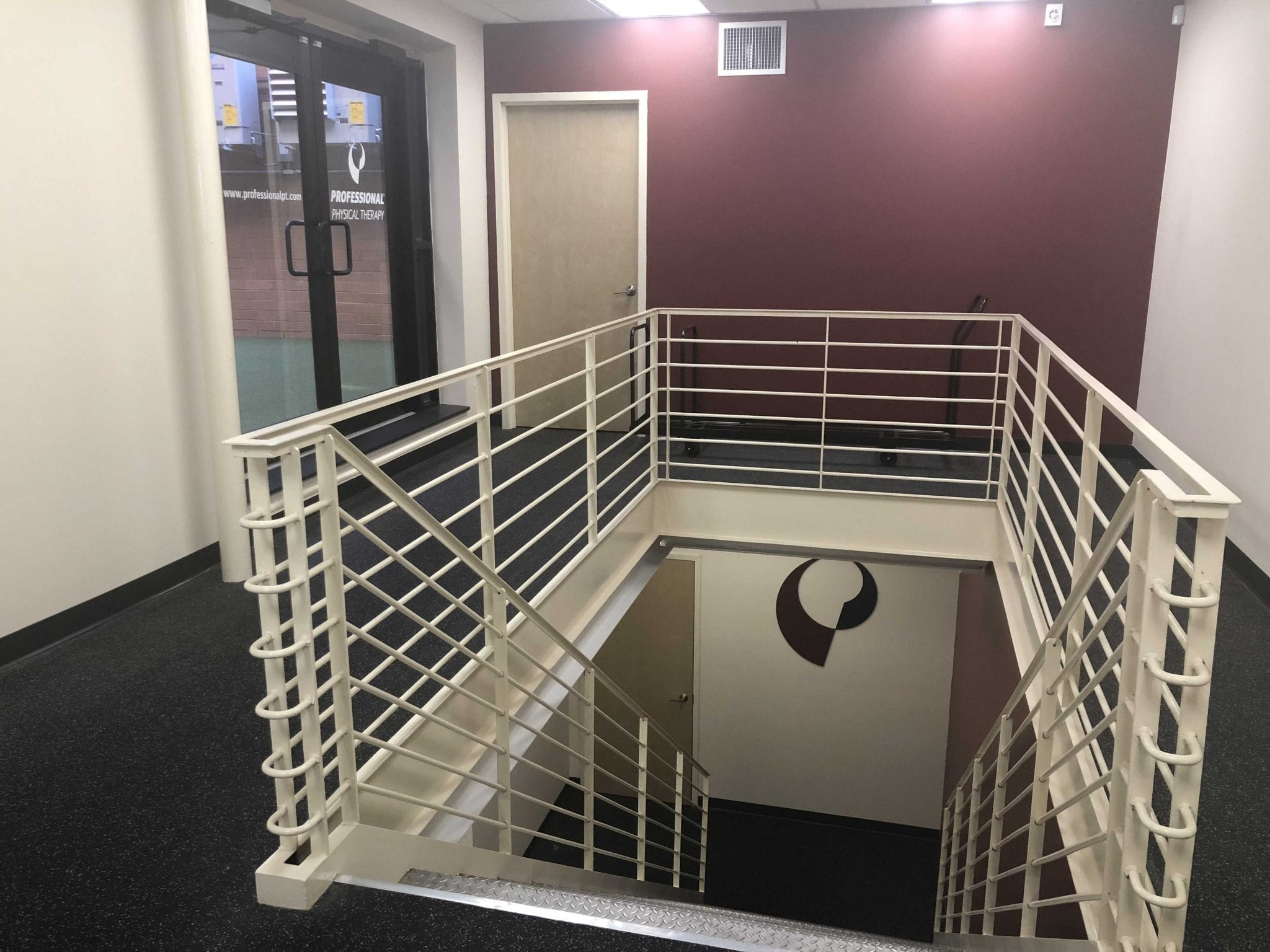 An image of a set of stairs at our physical therapy clinic in lower Manhattan, New York City, at East Village.