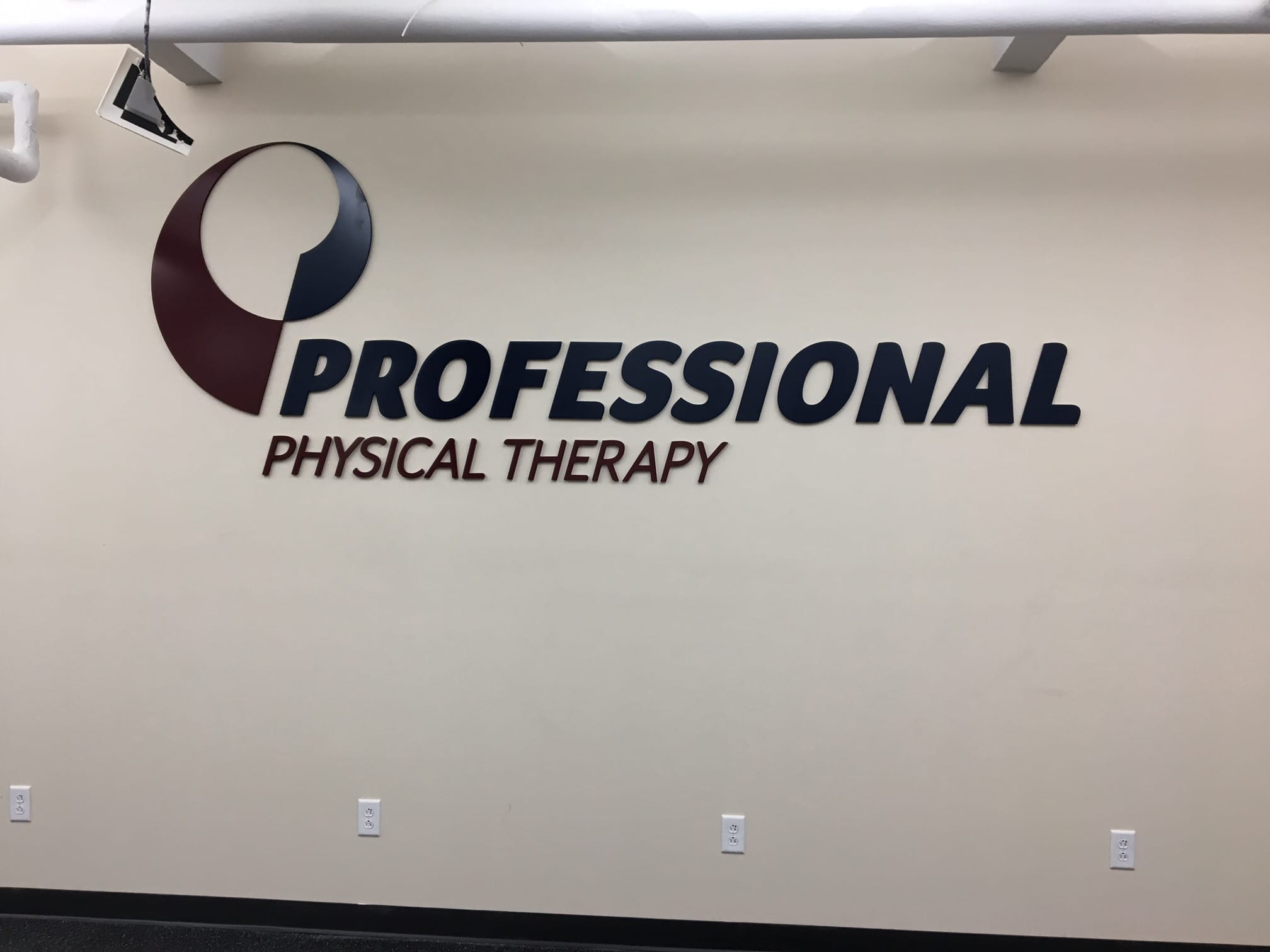 An image of our Professional Physical Therapy sign in our clinic in lower Manhattan, New York City, at East Village.