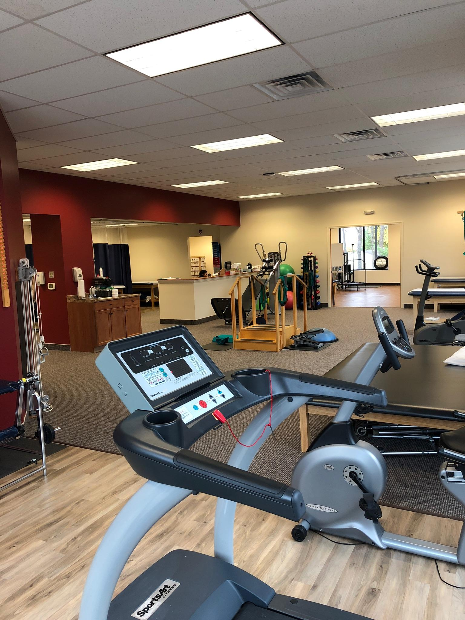 Here is a photo of the clean interior of our physical therapy clinic in Bridgewater, New Jersey.