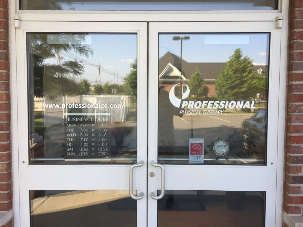 This is an image of the front doors to our clinic. The door reads