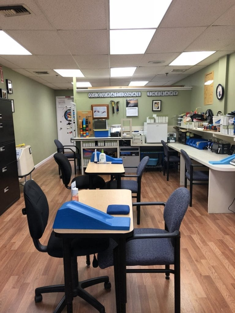 An image of one of our room in our hand & physical therapy clinic in Merrick, New York.