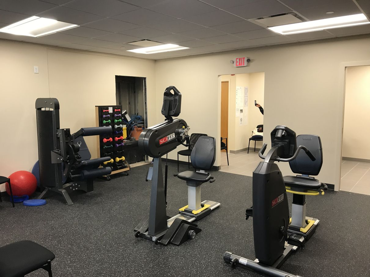 Interior of our Yonkers, NY physical therapy and sports medicine clinic.