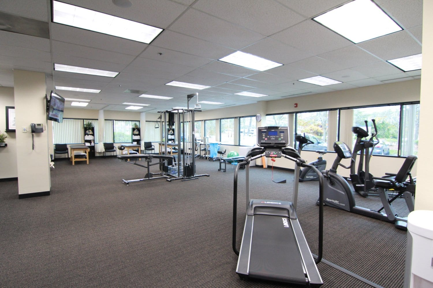 Here is an image of the interior of our physical therapy clinic in Billerica, Massachusetts.