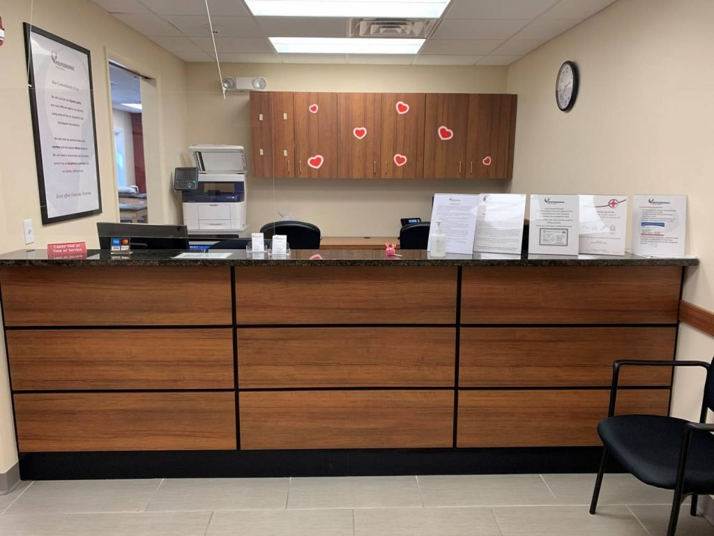 This is an image of a wide shot of the interior of our physical therapy clinic in Westfield New Jersey.