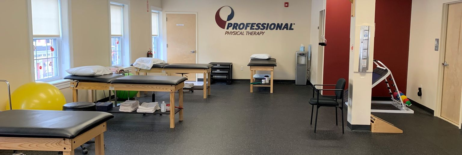 Full view of the physical therapy and rehabilitation training area at our physical therapy clinic in Westfield New Jersey.