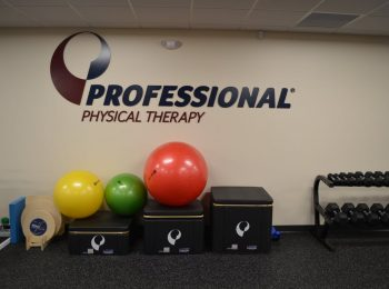 An image of stairs and exercise balls used in physical therapy at our clinic in New Rochelle, New York.