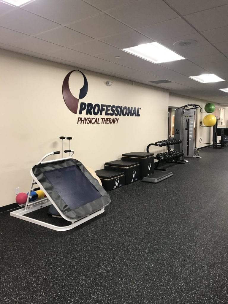 Here is a photo of our training room with various equipment at our physical therapy clinic in New Rochelle, New York.