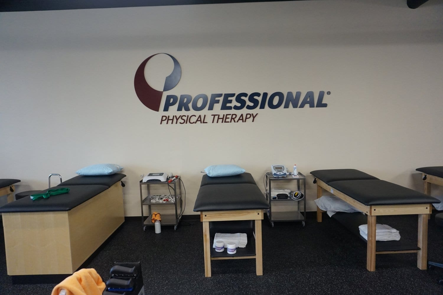 This is an image of the clean beds at our physical therapy clinic in Bronx, New York.