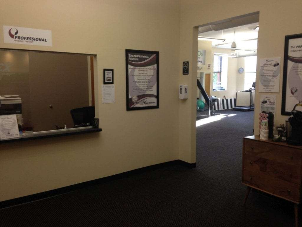 Here is a shot of the waiting area of our physical therapy clinic in Watertown, Massachusetts.