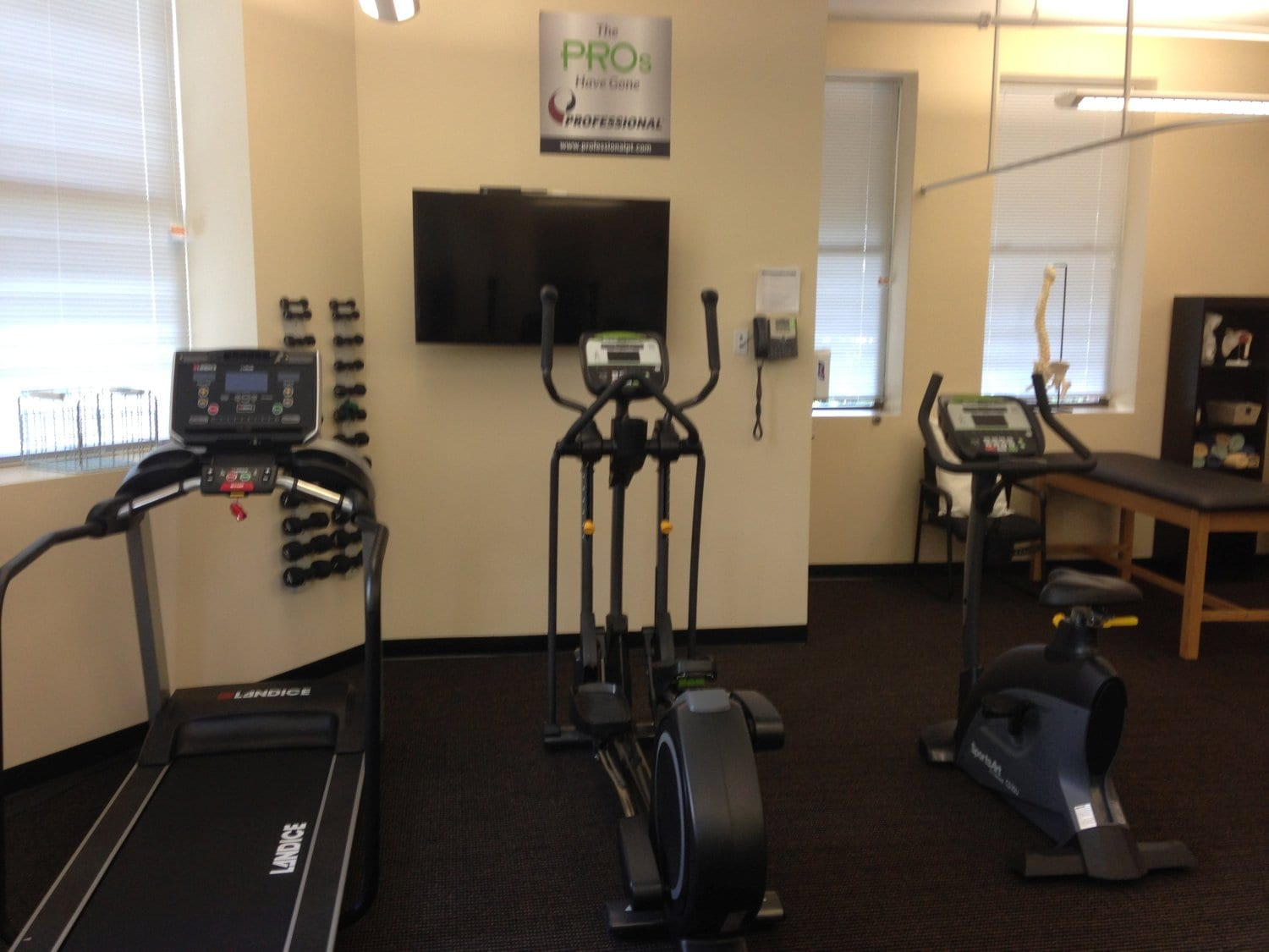 This is a shot of some of the equipment used at our physical therapy clinic in Watertown, Massachusetts.