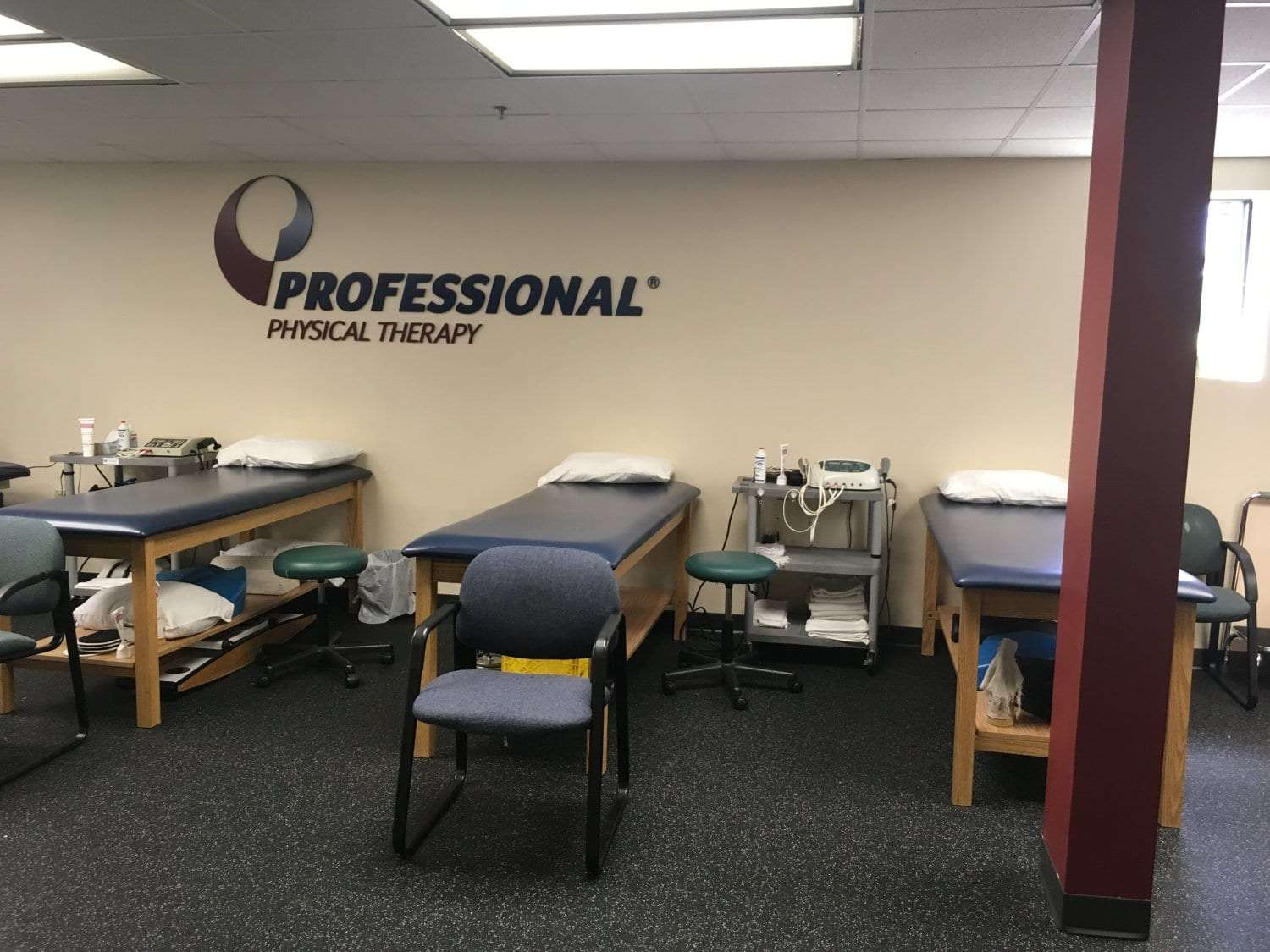 Here is an image of our clean beds at our physical therapy clinic in West Caldwell, New Jersey.