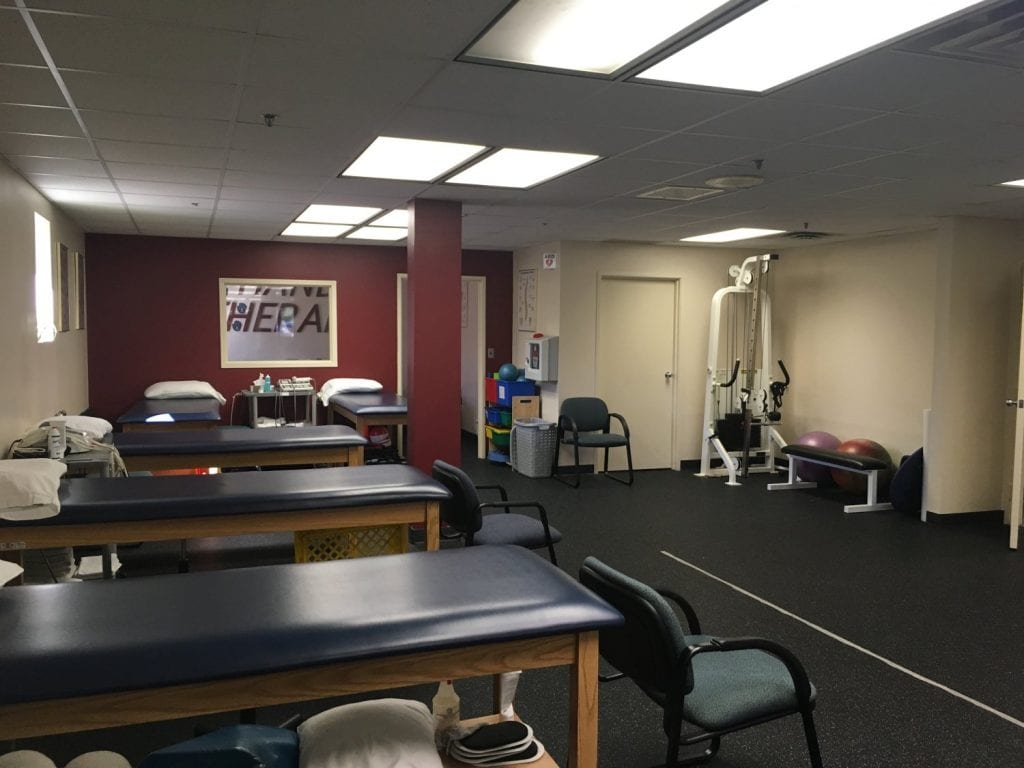 This is a shot showcasing our physical therapy clinic in West Caldwell, New Jersey.