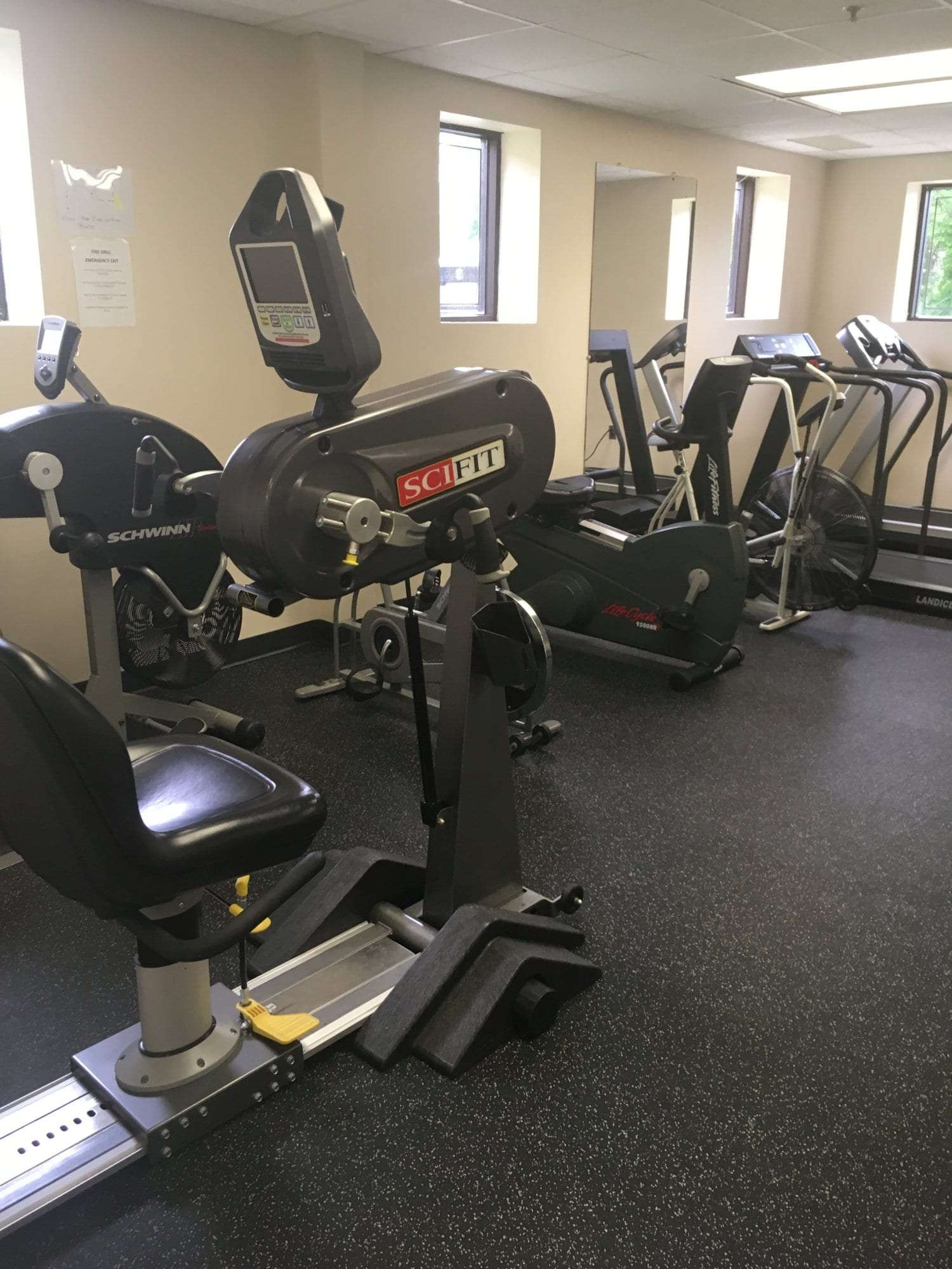 This is another shot of the equipment at our physical therapy clinic in West Caldwell, New Jersey.